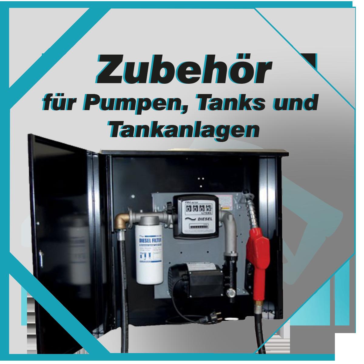 Verkauf von Zubehör für Pumpen, Tanks und Tankanlagen