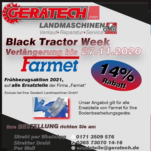 Frühbezugsaktion GERATECH Landmaschinen Landtechnik Farmet Machinery