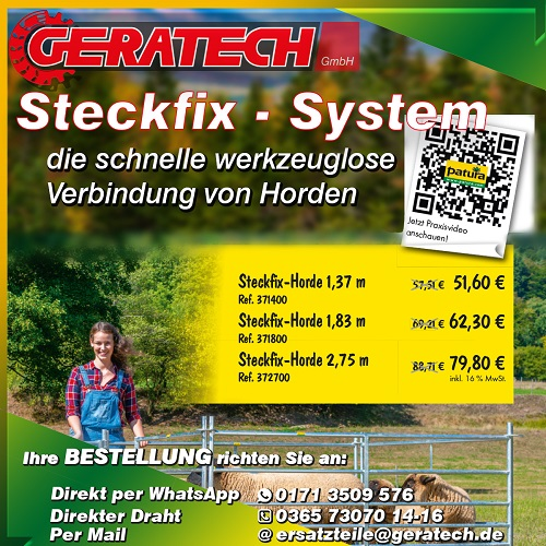 Aktion Patura Steckfix System GERATECH Landmaschinen GmbH