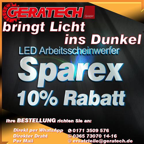 Aktion Sparex Arbeitsscheinwerfer GERATECH Landmaschinen GmbH