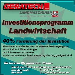 Investitionsprogramm Landwirtschaft bei GERATECH: Jetzt informieren!