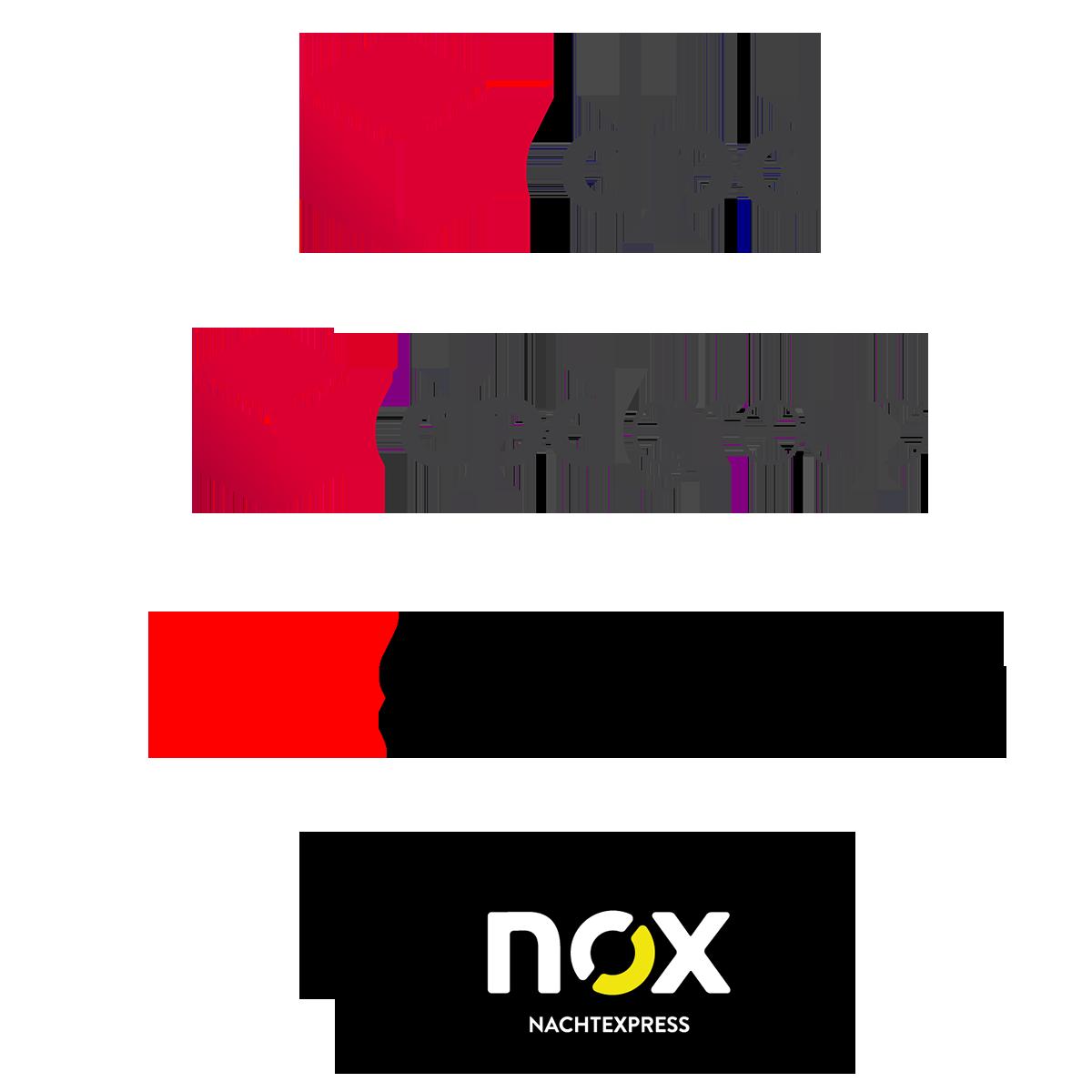 Unsere Versanddienstleister von Geratech Landmaschinen, DPDGruoup, Dpd-Paketversand, Schenker und Nox Nachtexpress