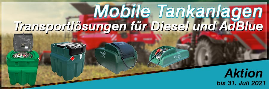 Aktion mobile Dieseltanks zu günstigen Preisen