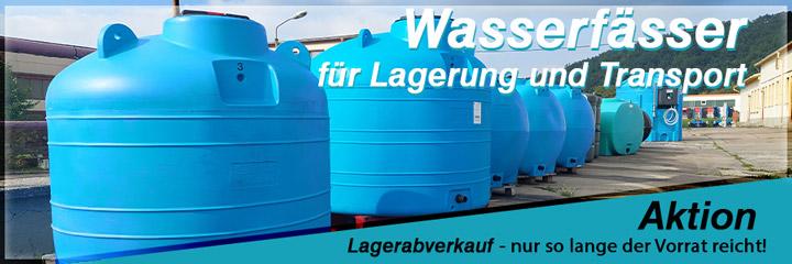 Lagerabverkauf Wassertanks und Weidefässer