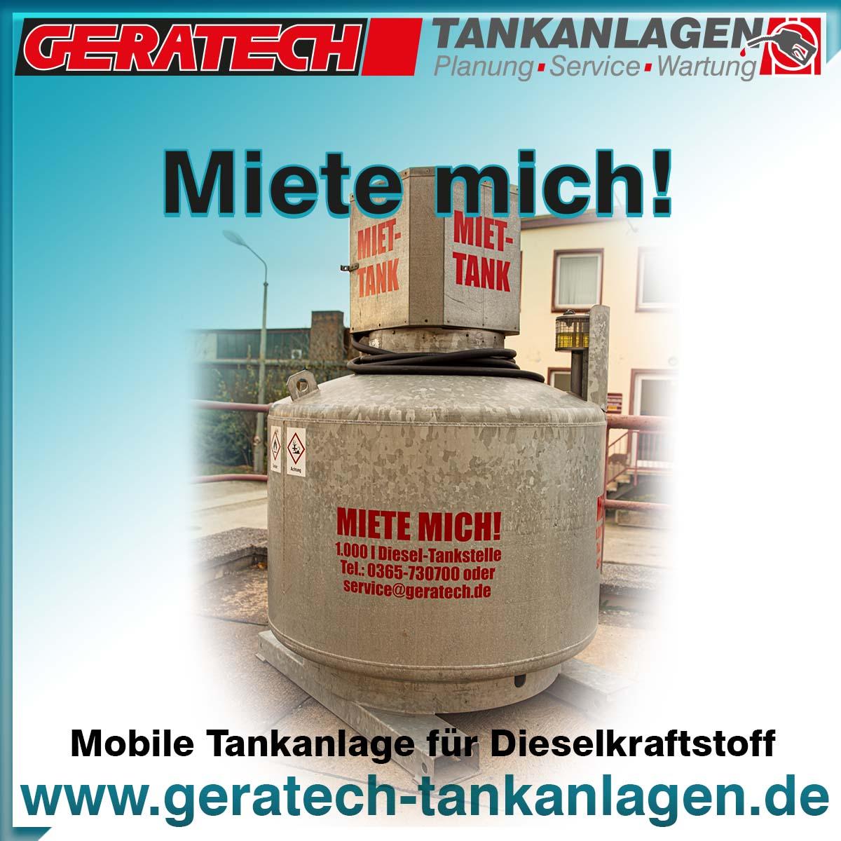 Mobile Tankanlage - Baustellentankstelle von Geratech Landmaschinen