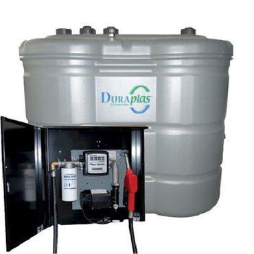 1.500 l Tankanlage mit Pumpe in Wandschrank – Bild 1