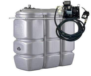 2.000 l Tankanlage mit Pumpe auf Wandhalterung – Bild 1