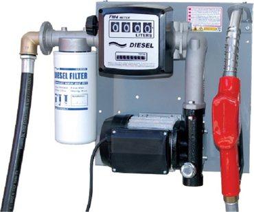 Duraplas Dieselpumpstation 120 l/min - 230V auf Stahlplatte