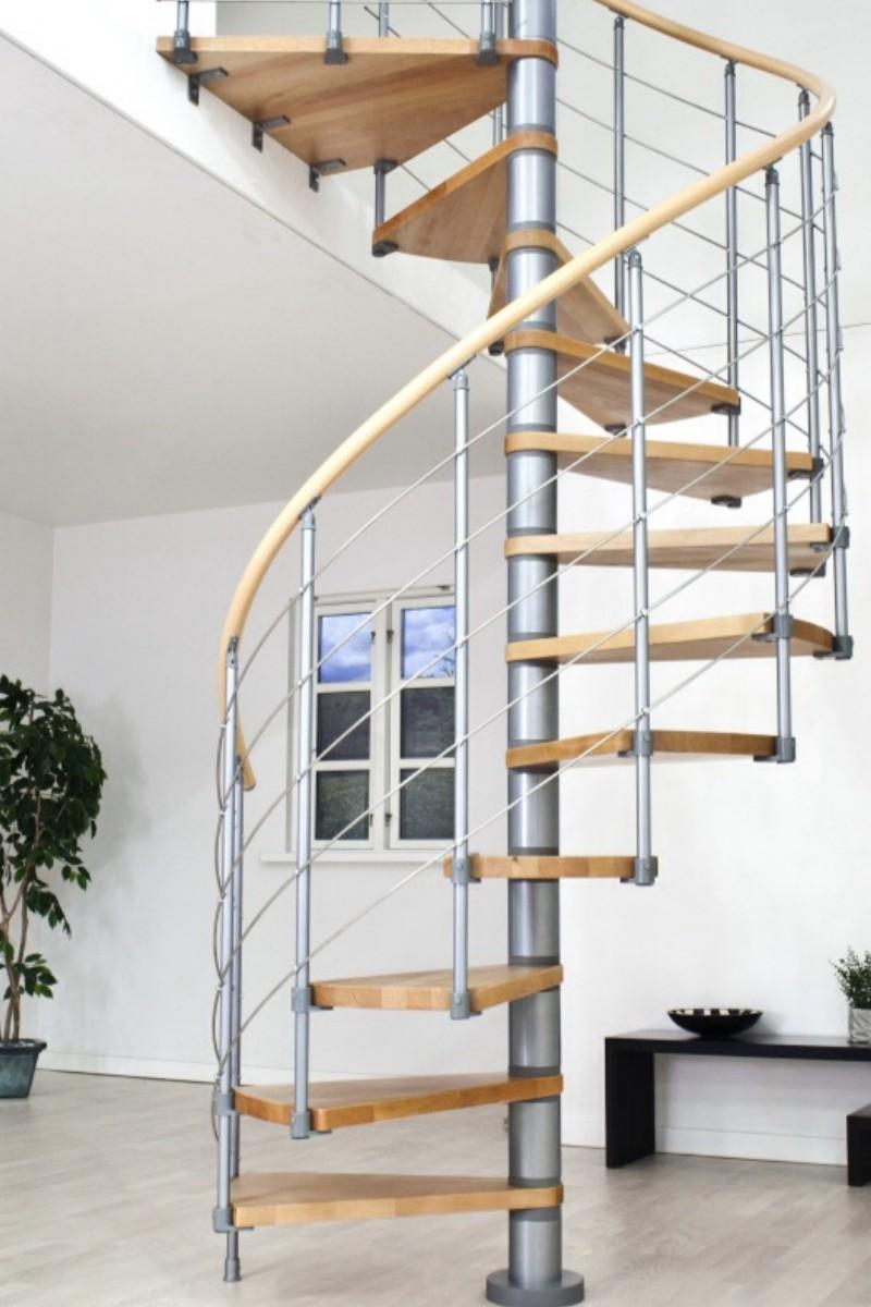 dolle wendeltreppe oslo grau 120. Black Bedroom Furniture Sets. Home Design Ideas