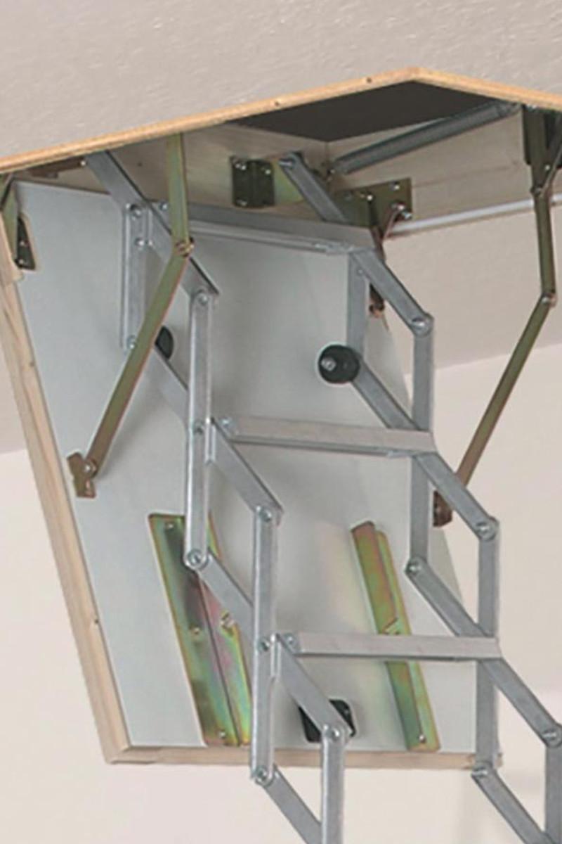 Dolle Dachbodentreppe Alu-Fix mit Lukenkasten – Bild 2