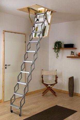 Dolle Dachbodentreppe Alu-Fix mit Lukenkasten 001