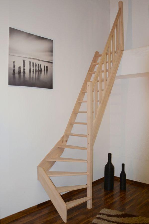 Raumspartreppe Paderborn Buche - 1/4 unten rechts gewendelt – Bild 1