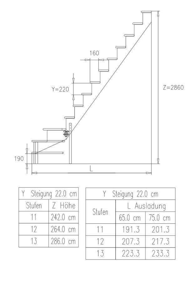 Raumspartreppe Lyon 1/4 unten rechts in Kiefer mit Holzgeländerstäben – Bild 3