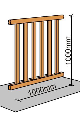 Brüstungsgeländer Raumspartreppe Paderborn 100 cm  001