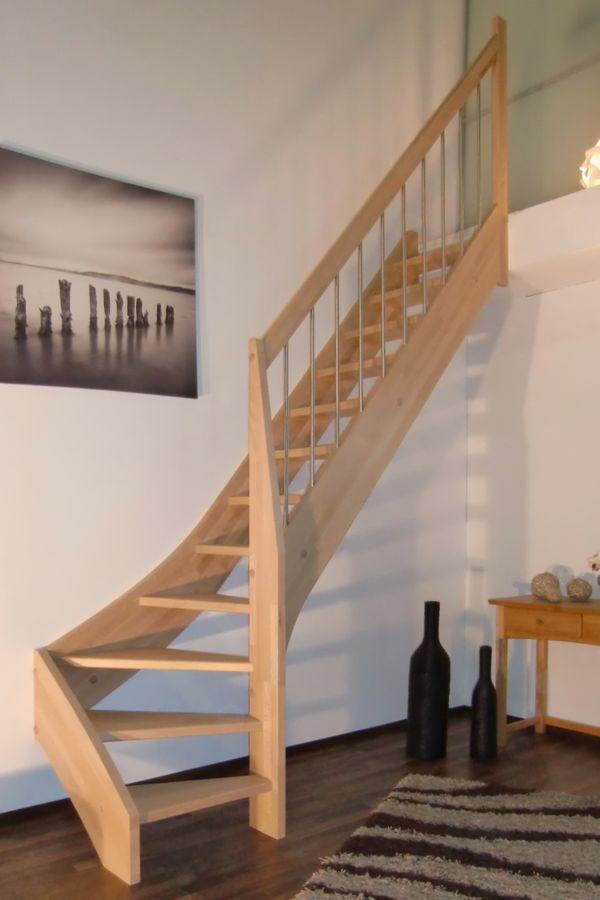 Treppe nach Maß 1/4 gewendelt rechts unten – Bild 1