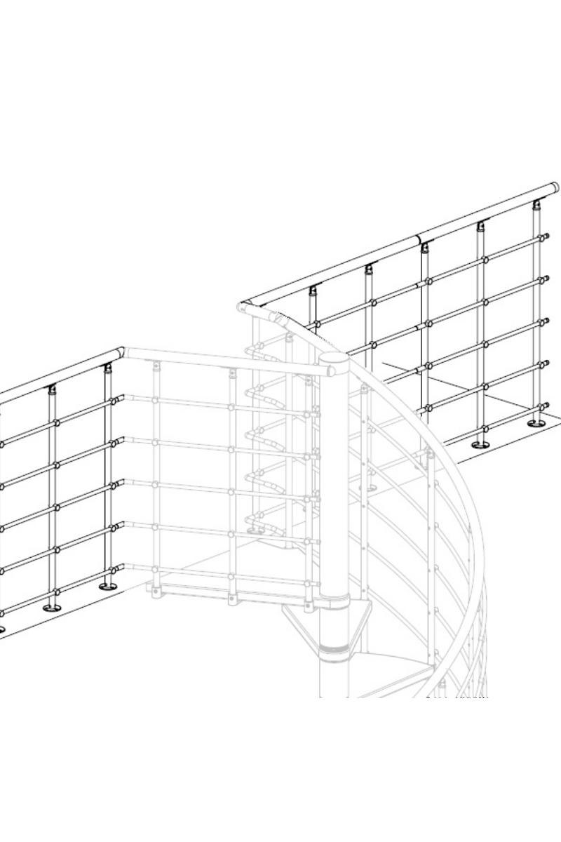 Dolle Oslo grau Wendeltreppe Brüstungsgeländer Startpaket – Bild 1