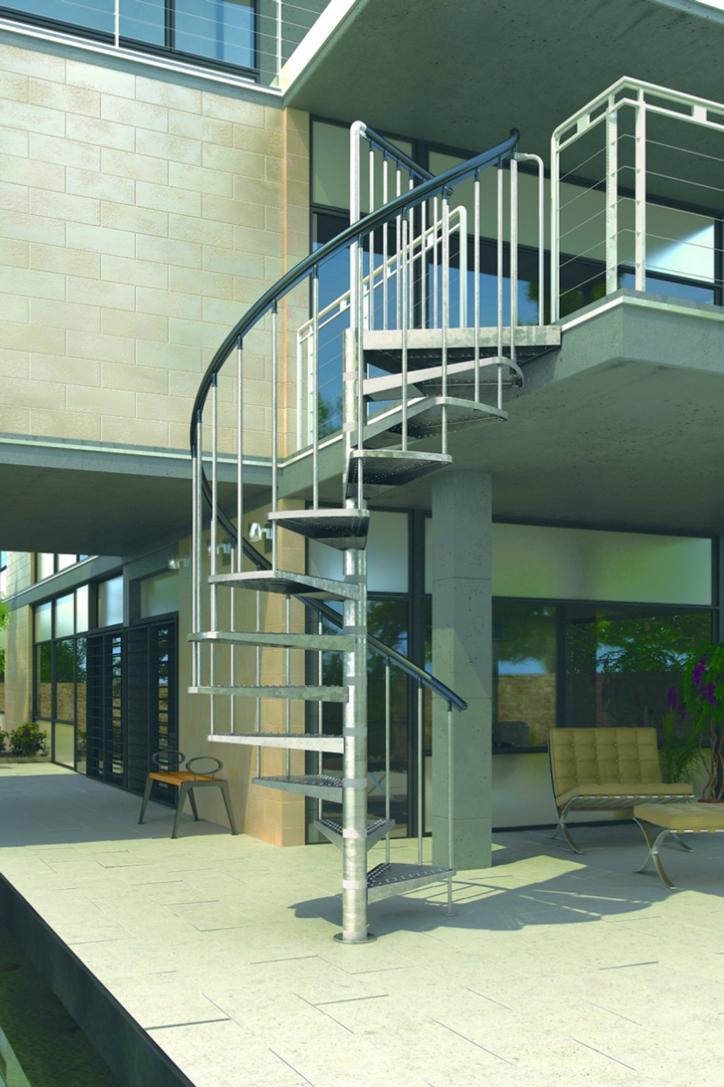 Außentreppe Spindeltreppe Dolle Gardenspin 125 – Bild 1
