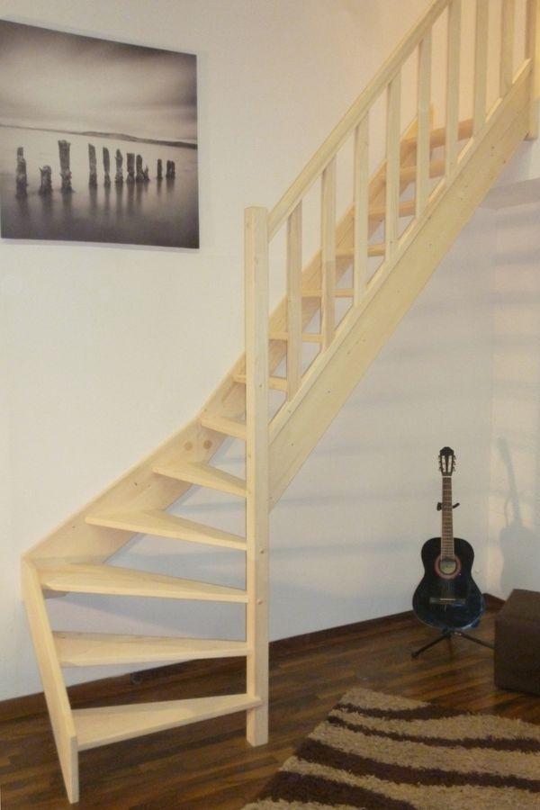 Treppe Alexander - Fichte - 1/4 unten rechts gewendelt – Bild 4
