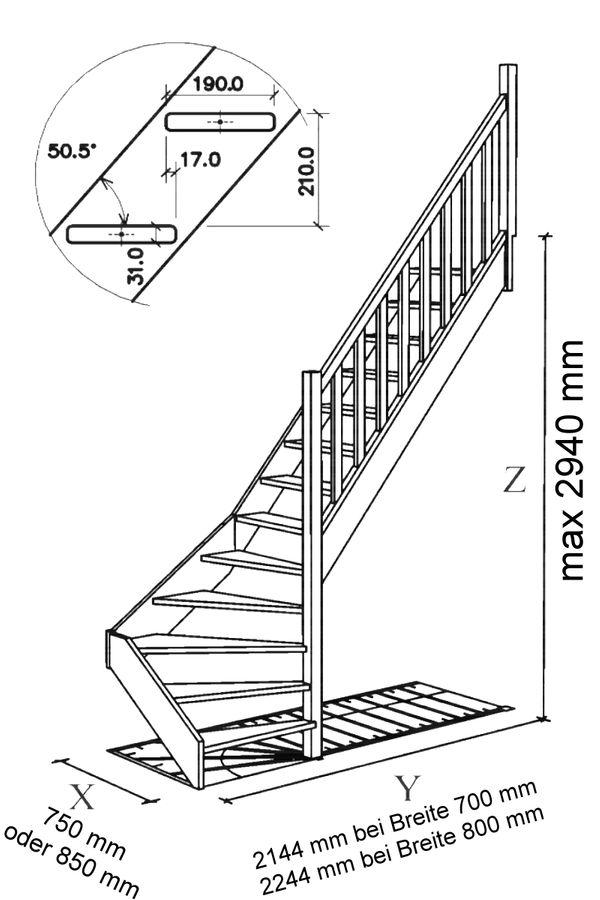 Treppe Alexander - Fichte - 1/4 unten rechts gewendelt – Bild 6