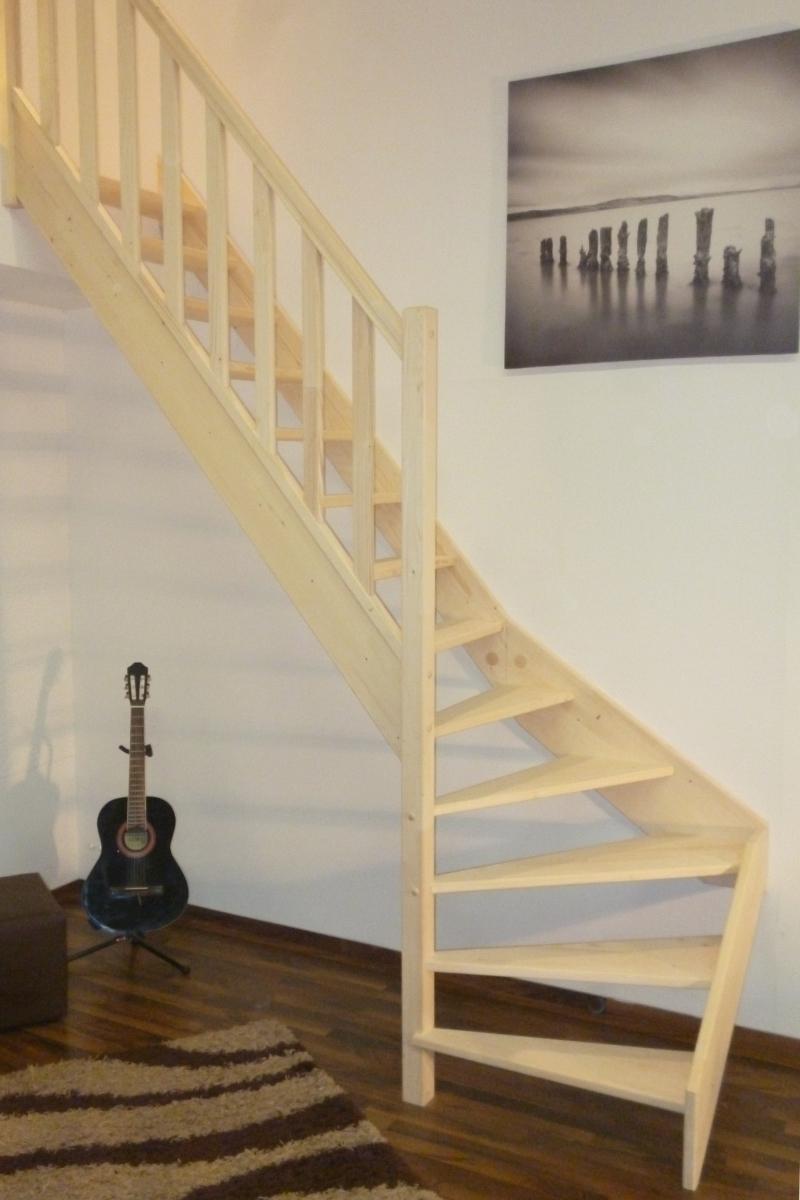Treppe Alexander - Fichte - 1/4 unten links gewendelt – Bild 4