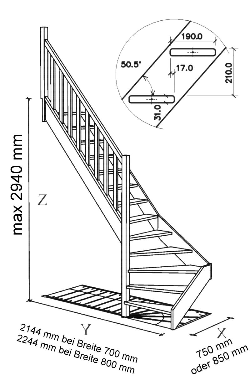 Treppe Alexander - Fichte - 1/4 unten links gewendelt – Bild 6