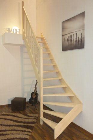 Treppe Alexander - Fichte - 1/4 unten links gewendelt 001