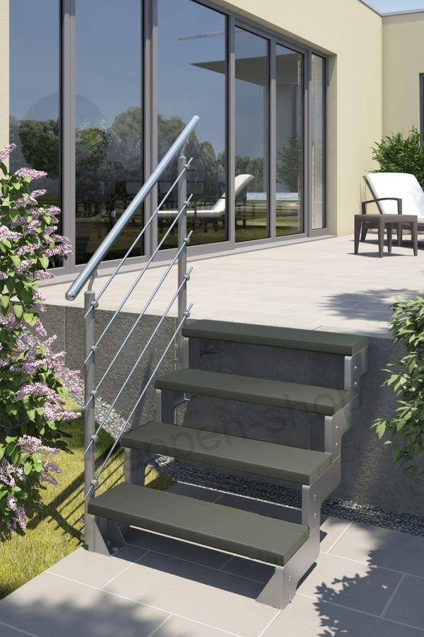 Treppenstufe Trimax anthrazit 80 cm oder 100 cm für Außentreppen – Bild 4