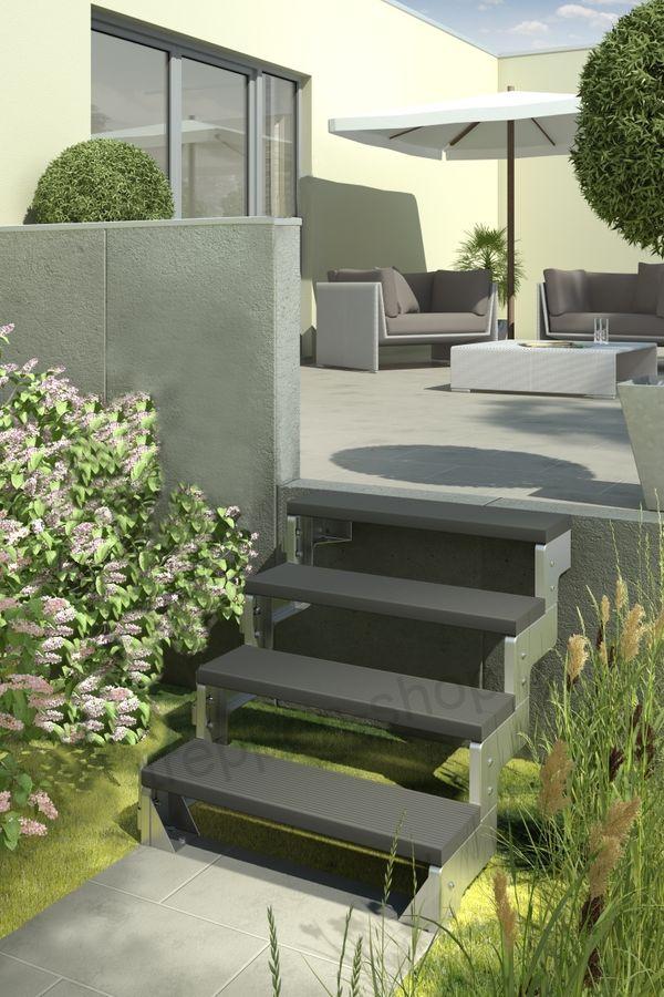 Treppenstufe Trimax anthrazit 80 cm oder 100 cm für Außentreppen – Bild 3