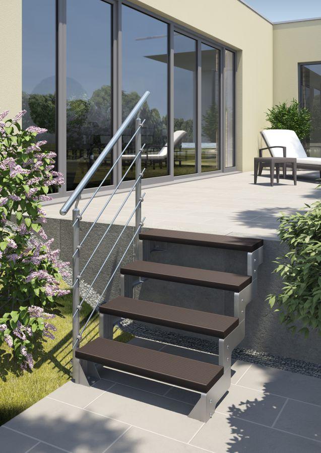 Treppenstufe Trimax dunkelbraun 80 cm oder 100 cm für Außentreppen – Bild 4