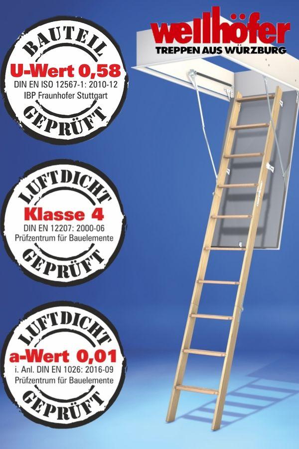 Bodentreppe Wellhöfer GutHolz WärmeSchutz 4D