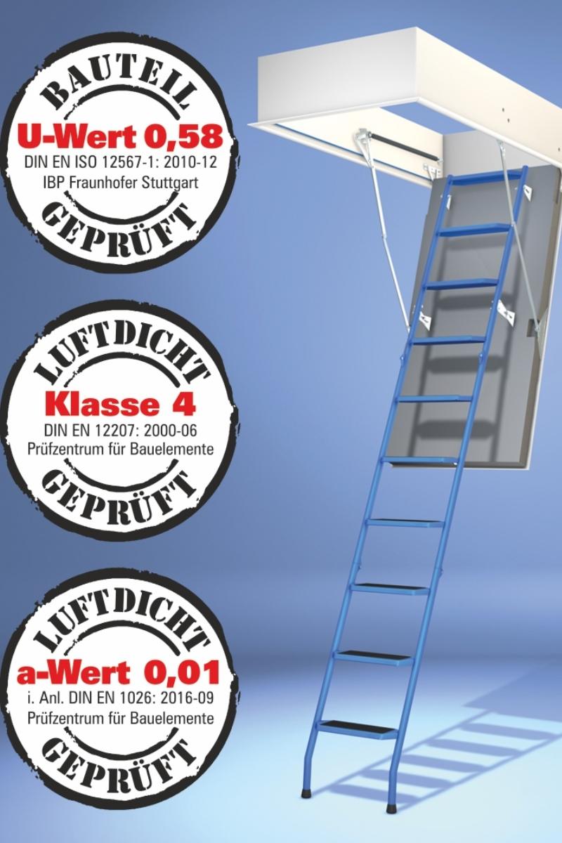 Bodentreppe Wellhöfer StahlBlau WärmeSchutz 4D – Bild 1