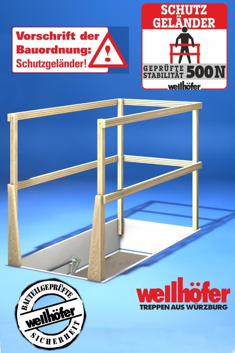 Wellhöfer Lukenschutzgeländer für Bodentreppe – Bild 1