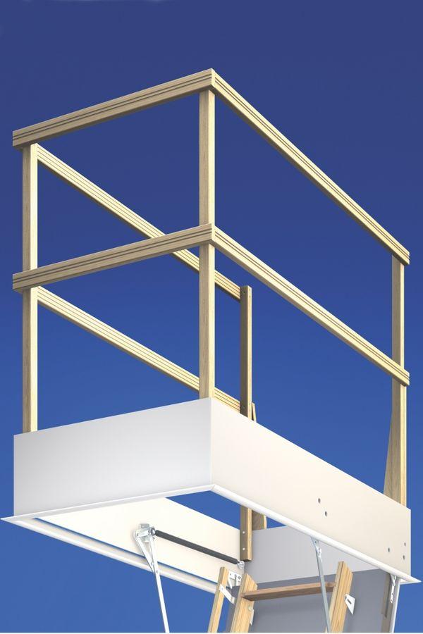 Wellhöfer Lukenschutzgeländer für Bodentreppe – Bild 2