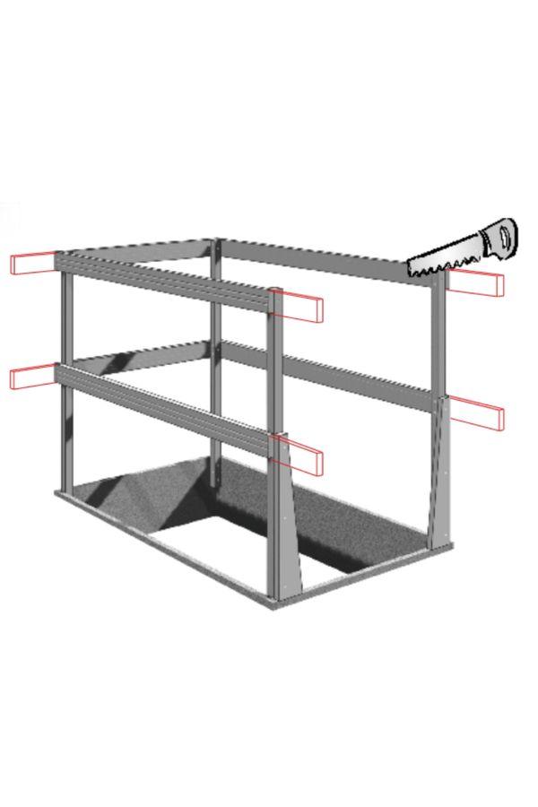 Wellhöfer Lukenschutzgeländer für Bodentreppe – Bild 3
