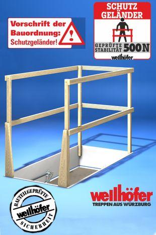 Wellhöfer Lukenschutzgeländer für Bodentreppe 001