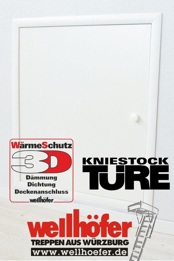 Wellhöfer Kniestocktür mit Wärmeschutz 3D 80 x 70 cm