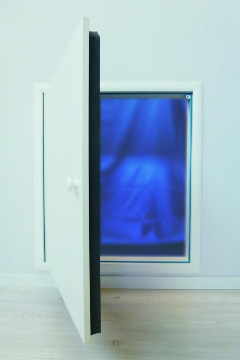 Wellhöfer Kniestocktür mit Wärmeschutz 3D 100 x 70 cm – Bild 3