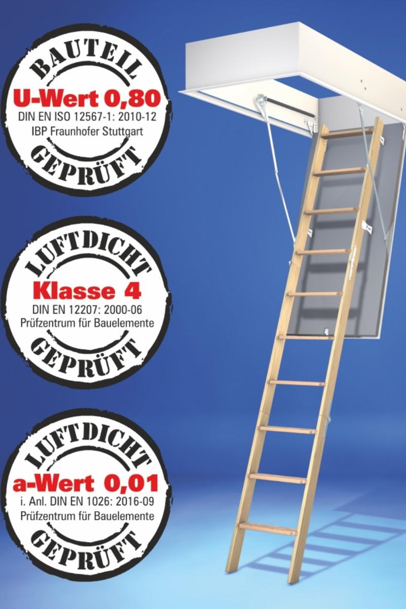 Bodentreppe Wellhöfer GutHolz WärmeSchutz 3D Maßanfertigung – Bild 1