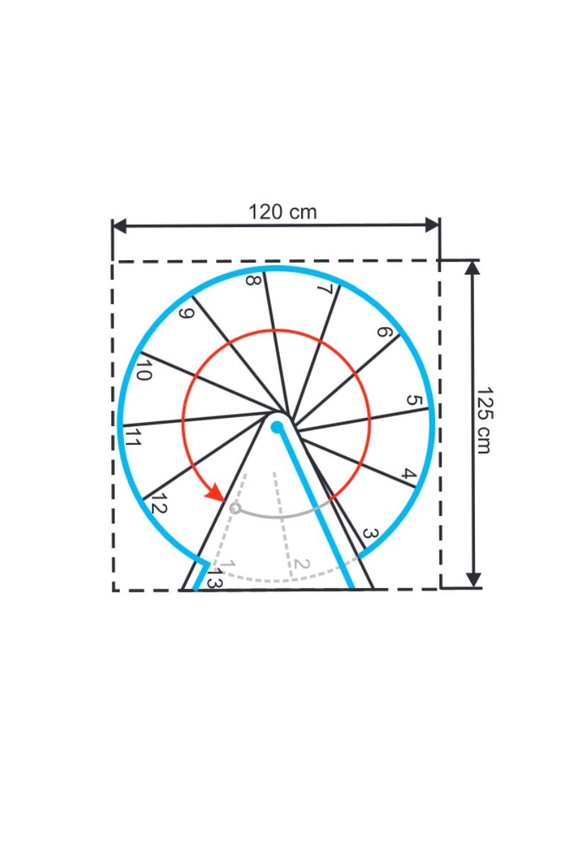 Spindeltreppe Minka Rondo Zink Plus 120 – Bild 6