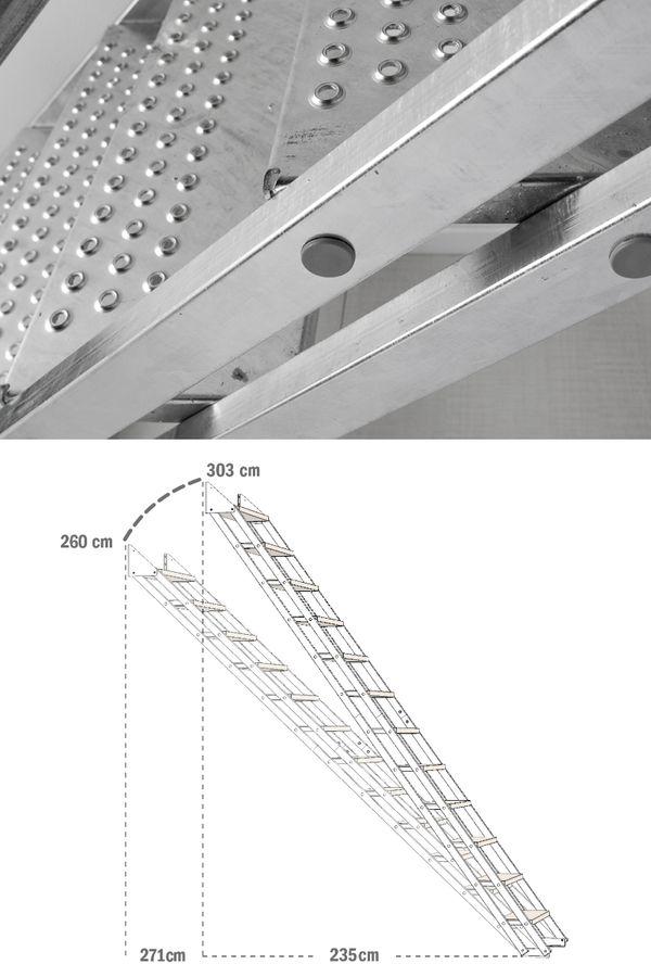 Außentreppe Stahlwangentreppe POP verzinkt – Bild 5