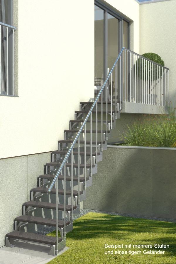 Außentreppe Gardentop ohne Geländer mit Trimaxstufen dunkelbraun – Bild 3