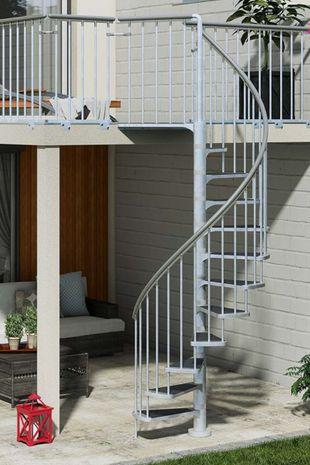 Außentreppe Spindeltreppe Dolle Gardenspin 125 TRIMAX 001