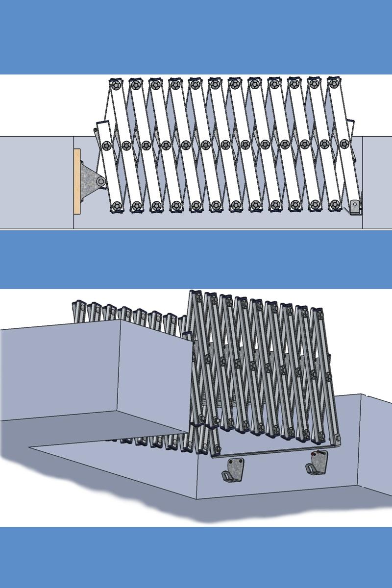 Wellhöfer Aluminium Scherentreppe mit Stirnbrett – Bild 2
