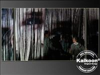 Bilderprojektion auf Fadenvorhang - Bühnendekoration