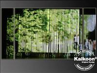 Bilderprojektion auf Fadenvorhang - Bühnendekoration in Brandschutzklasse B1 -schwer entflammbar-
