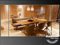 Esszimmer-Tisch-Gruppe in Fadenvorhang Dekoration - Möbelhaus