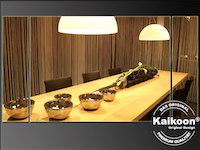 Speisetafel - Esszimmertisch in Fadenvorhangambiente
