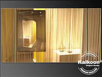 Durchsicht durch Fadenvorhang | Impression im Möbelhaus