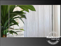 Pflanze vor Fadenvorhang