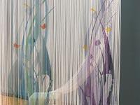 Fadenvorhang bedruckt mit Schmetterlingen